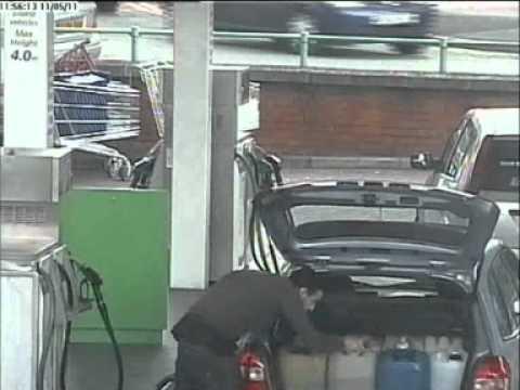 Petrol theft CCTV