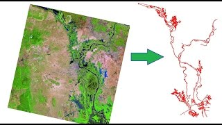 How to extract River shape from Landsat Image