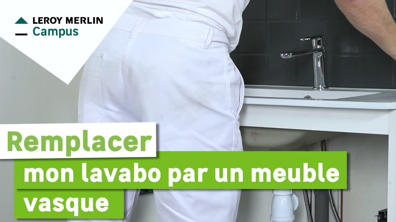 comment remplacer mon lavabo par un meuble vasque leroy merlin youtube. Black Bedroom Furniture Sets. Home Design Ideas