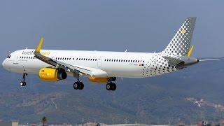 Download BARCELONA - AIRBUS A321 VUELING ATERRAR EM BARCELONA - AIRPLAN DANGEROUS 3Gp Mp4