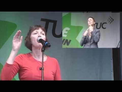 Frances OGrady speech at the Britain Needs A Pay Rise rally on 18 October 2014 Hyde Park