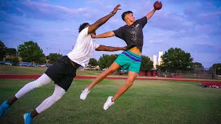 I PLAYED A 3 ON 3 FOOTBALL GAME VS OTHER YOUTUBERS.. (& GOT MOSSED)