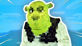 Someone put SHREK into Minecraft..