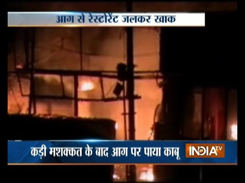Restaurant on Fire after Gas Cylinder Explosion in Mathura