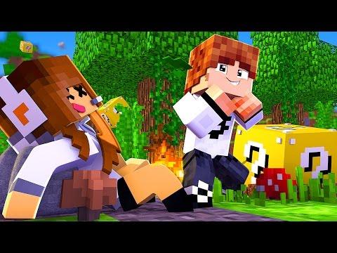 Minecraft: TÚNEL DA SORTE - MEU IRMÃO GANHOU?! thumbnail