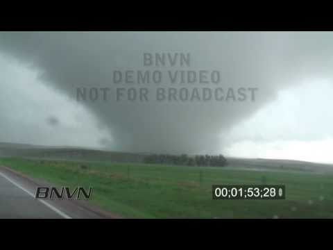 5/24/2010 Bison, SD Wedge Tornado Stock Footage