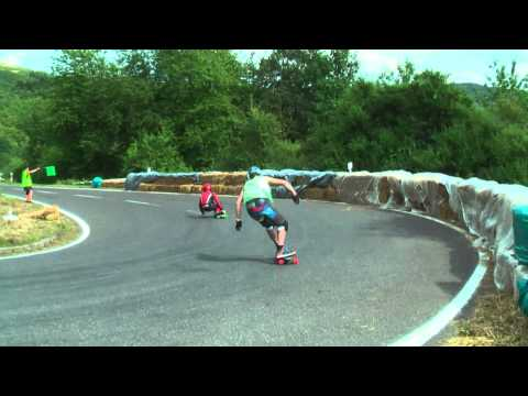 Downhill Skateboarding European Championship Insul 2010