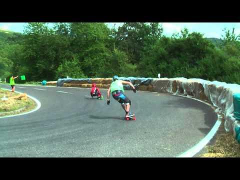 Downhill Skateboarding European Championship Insul 2010