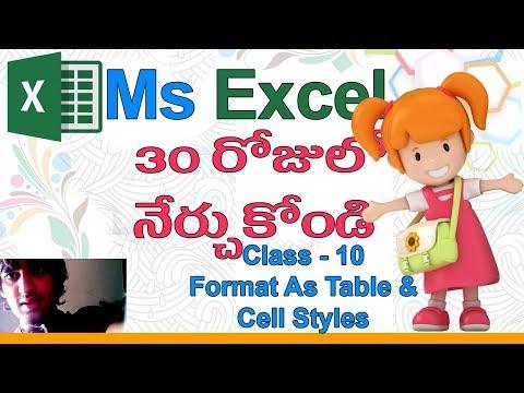 Ms Excel in Telugu | Telugu Ms Excel Classes | Class - 10 |