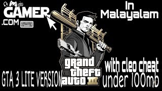 GTA 3 Lite version for Android. under 100mb with cleo cheat. in Malayalam