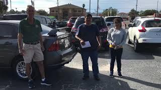 Happy customers at Julian's auto showcase
