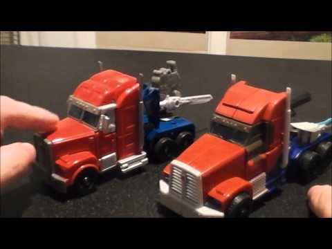 Transformers Prime Rid Vs First Edition Voyager Optimus Prime