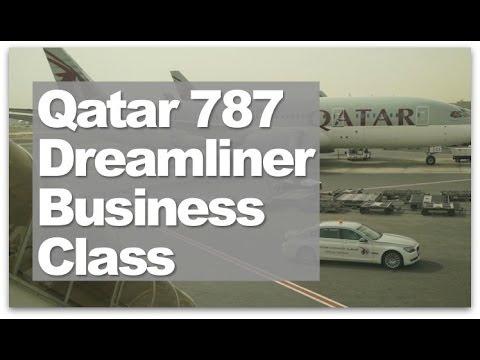Qatar Airways Business Class 787 Flight | A review of Qatar's Dreamliner in Business Class