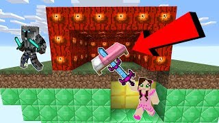 Minecraft: *INFINITE DAMAGE* EYE LUCKY BLOCK BEDWARS! - Modded Mini-Game
