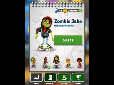 Subway Surfers Time travel glitch ( unlock special characters and hoverboards ) - 2013
