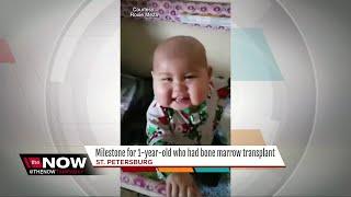 1YO celebrates bone marrow transplant milestone