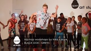 Black Doe - Grey - Hip-hop workshops by Nika Karare - Open Art Studio