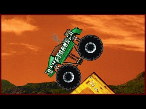 Monster Truck Demolisher - Flash Game Walkthrough (24 levels)