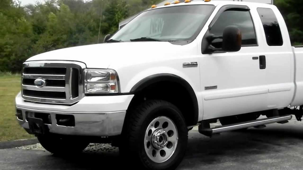2005 Ford F350 4X4 4WD Extended CAB 6.0L Powerstroke DIESEL Short Bed FX4 - YouTube