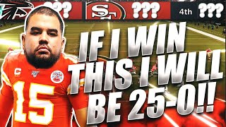 FINAL GAME TO GO PERFECT 25-0 IN WEEKEND LEAGUE! | Madden 21 Ultimate Team