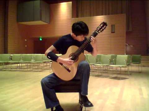 Fugue from BWV 998 by JS Bach on 7 String Guitar - www.rayzhou.com