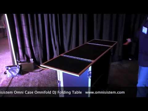 Omnisistem Omni Case DJ Fold Table Video: By John Young of the Disc Jockey News