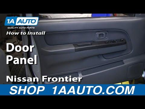 How to install replace remove front door panel nissan for 03 nissan altima door handle replacement