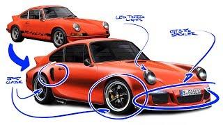 Porsche 911 Carrera RS Re-design - Dare to Modernize an Icon??
