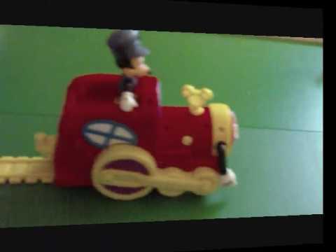 Mickey 39 s magic choo choo train youtube for Disney mickey mouse motorized choo choo train with tracks