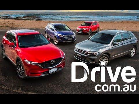 2017 Mazda CX-5 v VW Tiguan v Nissan X-Trail v Ford Escape Comparison | Drive.com.au