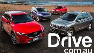 2017 Mazda CX-5 v VW Tiguan v Nissan X-Trail v Ford Escape Comparison   Drive.com.au