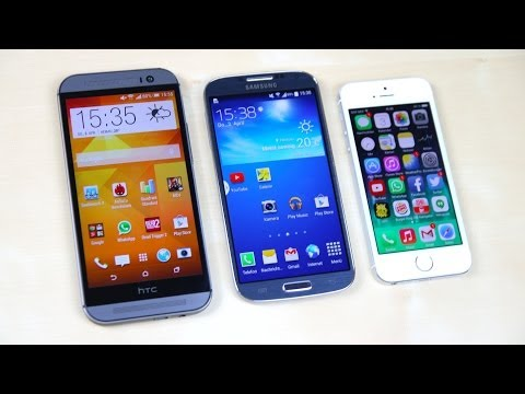 HTC One M8 vs Apple iPhone 5s vs Samsung Galaxy S4: Benchmark   SwagTab