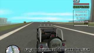 MOD Jipe americano JEEP Wrangler Fury 1986 para o jogo GTA San Andreas.wmv