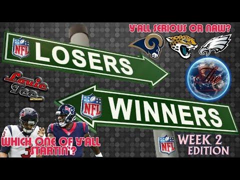 WINNERS & LOSERS Ep.17.2   Week 2 NFL Picks LIVE!  #LouieTeeLive