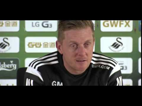 Bafetimbi Gomis has a promising future with Swansea City, says Garry Monk