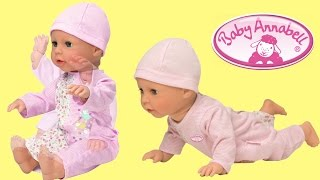 Baby Annabell Learns to Walk Baby Doll like a Real baby Lie girl play with doll