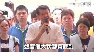 華航罷工╱新董座何煖軒赴罷工現場面對面