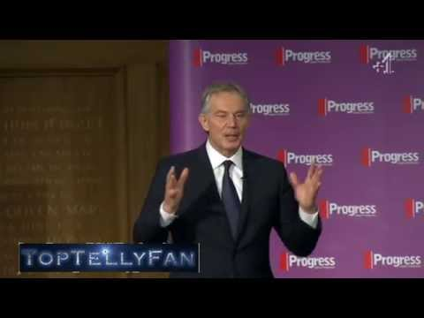 Tony Blair avoids Michael Crick's questions about Gaza (badly) (C4 News, 21.7.14)