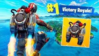 Escaping The Map With Jetpacks in Fortnite Battle Royale