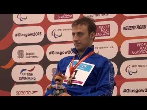 Men's 50m Backstroke S3 | Victory Ceremony | 2015 IPC Swimming World Championships Glasgow