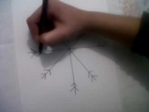 como se dibuja un copo de nieve