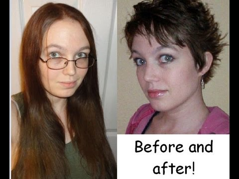 Very long hair cut to short! (Pixie)