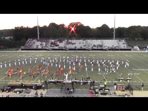 Buckhorn High School Marching band at Mid South Marching Band Festival 9-27-14