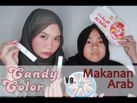 Lipstick vs. Makanan: Candy Color vs Makanan Arab - YouTube