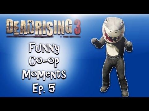 Dead Rising 3 Funny Co-op Moments ep. 5 (Jedi Shark, Rocket Gloves, Fat Lady Boss)