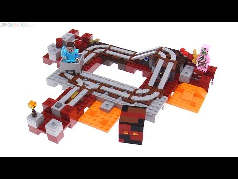 LEGO Minecraft Nether Railway review! 21130