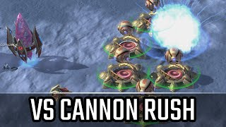 VS Cannon rush l StarCraft 2: Legacy of the Void Ladder l Crank