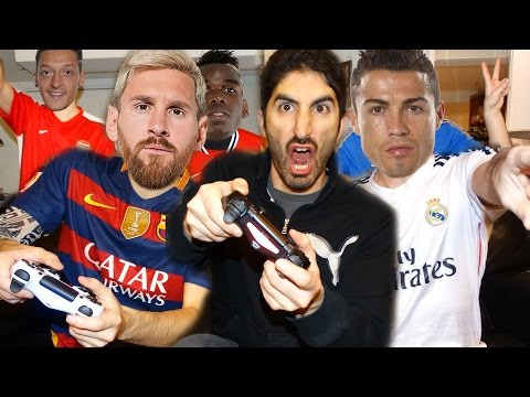 PLAYING FIFA 17 WITH FOOTBALLERS ft. Ronaldo, Messi, Pogba, Ozil, Costa | Footy Friends
