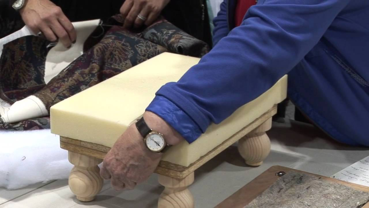 Upholster A Footstool Lesson With Evelyn Bouma Youtube