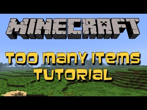 Minecraft 1.7.2 || Too Many Items Mod (Tutorial + Download)
